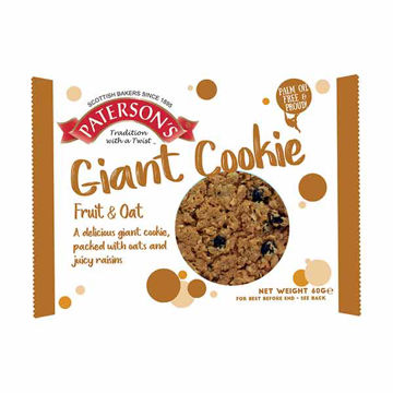 Picture of Giant Fruity Oat Cookies (18x60g)