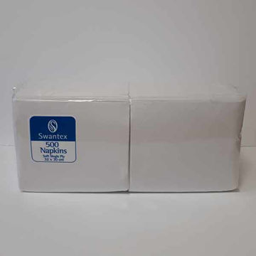 Picture of 32cm/1 Ply White Napkins (10x500)