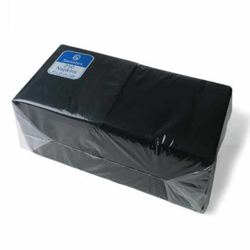 Picture of 25cm/2 Ply Black Cocktail Napkins (8x250)
