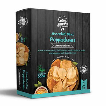 Picture of Assorted Mini Poppadums (2x1kg)