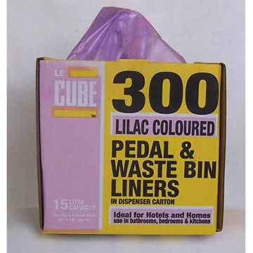 Picture of Lilac Pedal Bin Liners (6x300)