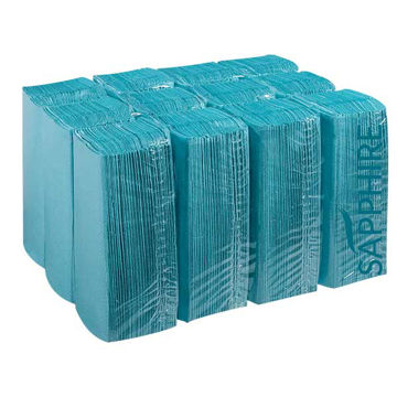 Picture of Blue Centre Fold Hand Towels (15x192)