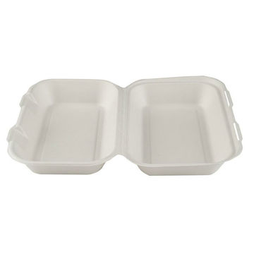 """Picture of 10 x 6"""" Large Bagasse Clamshells (5x50)"""