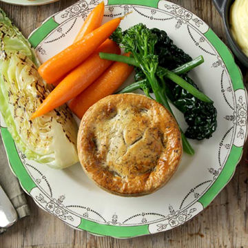 Picture of Mushroom, Red Wine and Tarragon Pie (24 x 260g)