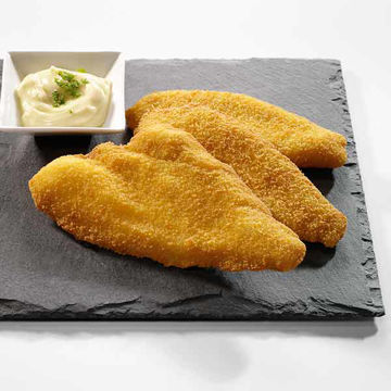 Picture of Breaded and prefried plaice fillets 6-7oz (18)