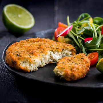 Picture of Sea Bass, Ginger & Lime Fishcakes (20x100g)