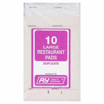 Picture of Large Plain Restaurant Order Pads (20x10)