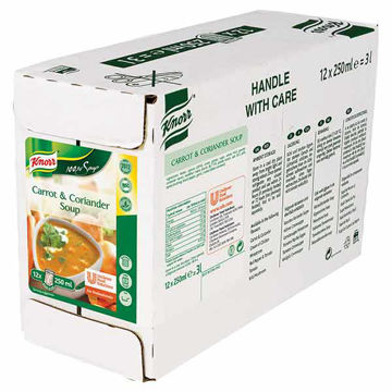 Picture of 100% Carrot & Coriander Soup (12x250ml)