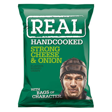 Picture of Hand Cooked Strong Cheese & Onion Flavour Crisps (24.x 35g)