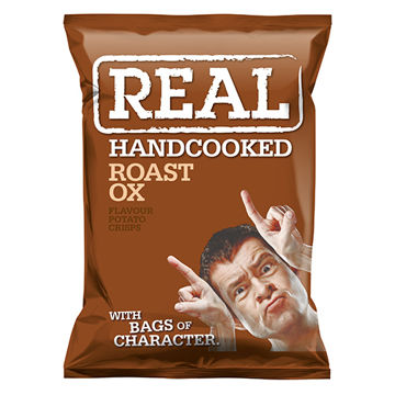 Picture of Hand Cooked Roast Ox Flavour Crisps (24 x 35g)