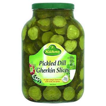 Picture of Kuhne Pickled Dill Gherkin Slices (4x2.45kg)