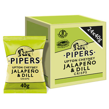 Picture of Upton Cheyney Jalapeno & Dill Crisps (24x40g)