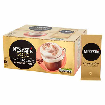 Picture of Nescafe Gold Cappuccino Unsweetened Sachets (50x14.2g)