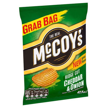 Picture of McCoy's Cheddar & Onion Crisps (36x47.5g)